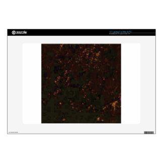black red specks laptop decal