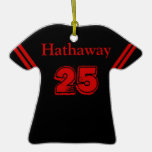 Black & Red Sports Jersey Ornament