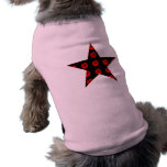 Black & Red Star of Kisses Dog Tee