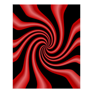 Black & Red Swirl Poster
