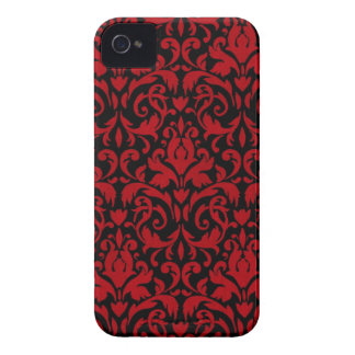 BLACK-RED-SWIRLY Case-Mate iPhone 4 CASE