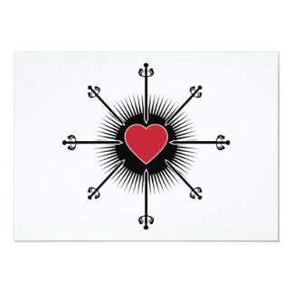 BLACK RED SWORDS HEART LOVE MEDIEVAL GRAPHICS ICON CARD