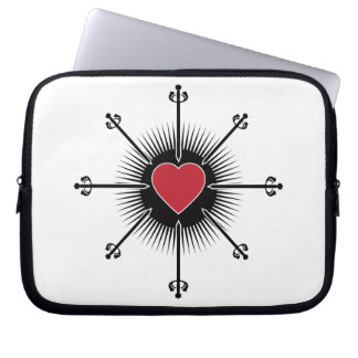 BLACK RED SWORDS HEART LOVE MEDIEVAL GRAPHICS ICON LAPTOP COMPUTER SLEEVES