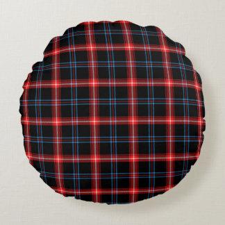 Black Red Tartan Plaid Round Cushion Round Pillow