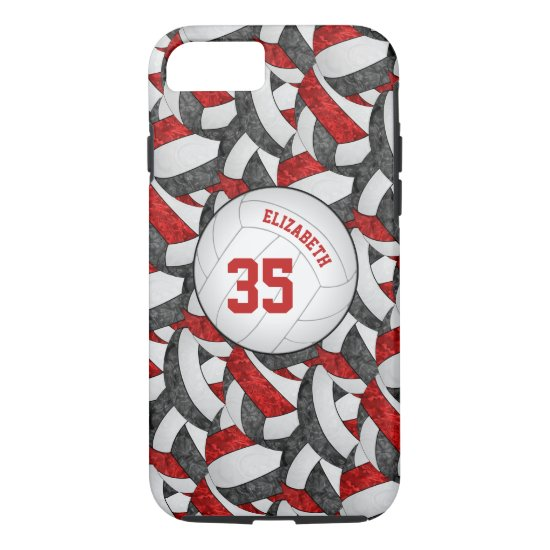 black red team spirit gifts girls' volleyball iPhone 8/7 case