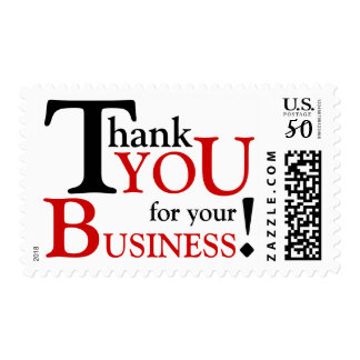 """Black & Red """"Thank you for your Business"""" Postage"""