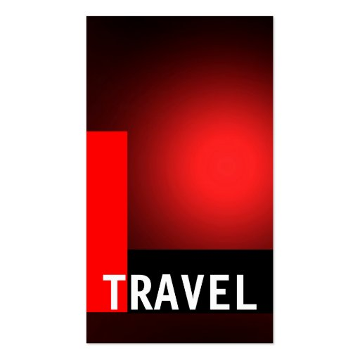 Black Red Travel Agent Business Card