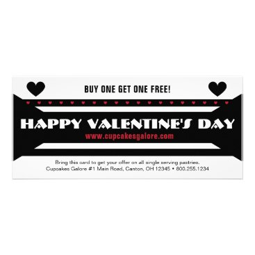 Professional Business Black-Red Valentine's Day Sales Promo Rack Card