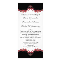 black red Wedding program