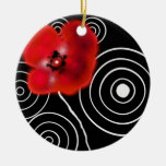 Black-red Weis creation, ceramic(s) ornamentation Christmas Tree Ornaments