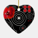 Black-red Weis creation, ceramic(s) ornamentation  Ornaments
