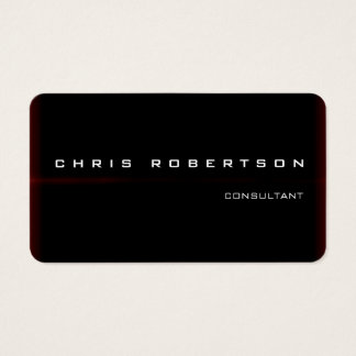 Black Red White Attractive Charming Business Card