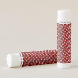 Black Red White Pattern Lip Balm