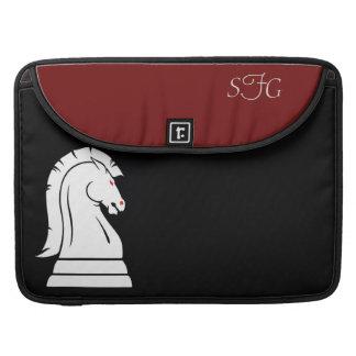 Black & Red Wild Knight Chess 15' Macbook Sleeve Sleeve For MacBooks