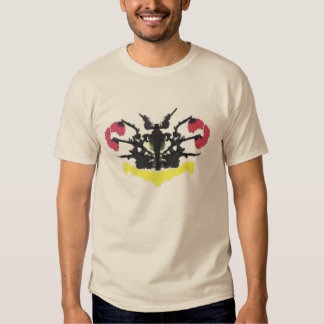 Black, Red, & Yellow Rorschach on Sand Tee