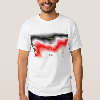 Black-Red-Yellow-White-United in a Wave of Harmony T-Shirt