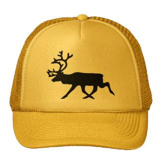 Black Reindeer / Caribou Silhouette Trucker Hat