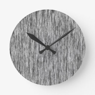 Black-Render-Fibers-Pattern Round Clock