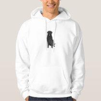 Black Retriever Dog on a hoodie