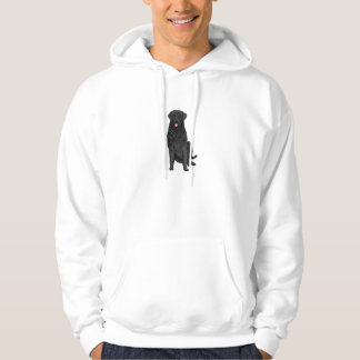 Black Retriever Dog on a hoodie