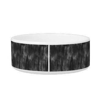 Black Retro Canvas Grunge Texture Cat Water Bowl