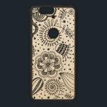 """Black Retro Floral Design You Change Background Wood Nexus 6P Case<br><div class=""""desc"""">Black retro floral lace pattern you change the background. Several colors available</div>"""