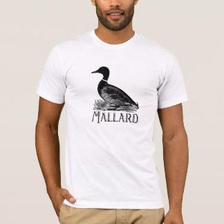 Black Retro Mallard Duck T-Shirt