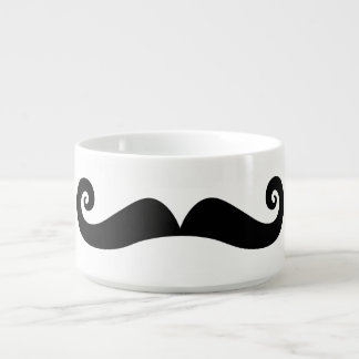 Black Retro Mustache Bowl