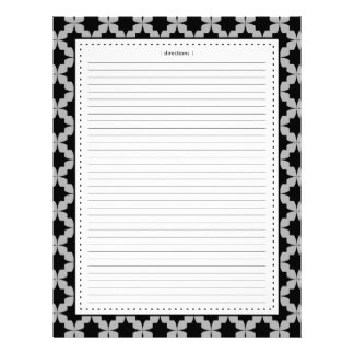 Black Retro Star Additional Recipe Pages