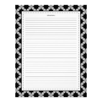 Black Retro Star Additional Recipe Pages Customized Letterhead