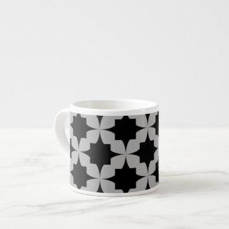 Black Retro Star Espresso Mug