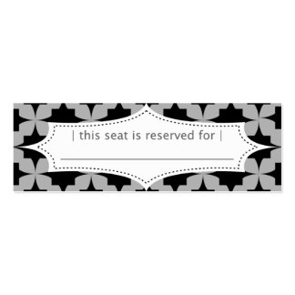 Black Retro Star Place Card Double-Sided Mini Business Cards (Pack Of 20)