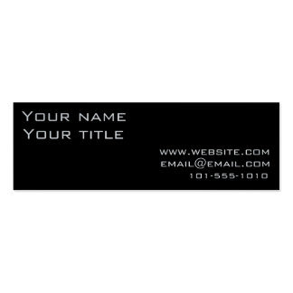 Black Retro Tech Business Card