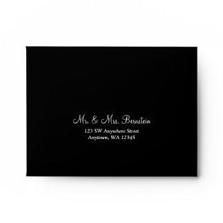 Black Return Address A2 Envelope