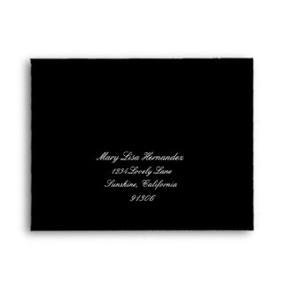 Black Return Address Envelope for RSVP