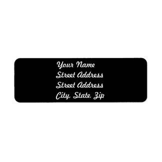 Black Return Address Sticker Label