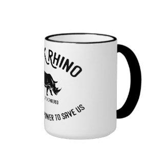 Black rhino animal protection mug
