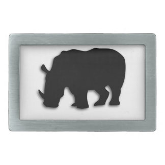 Black Rhino Belt Buckle