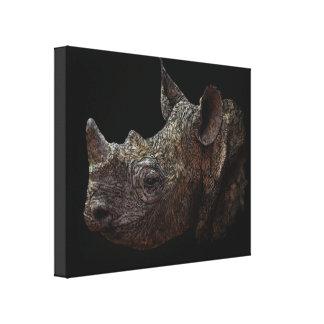 Black Rhino Canvas Print