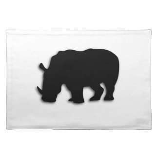 Black Rhino Cloth Placemat