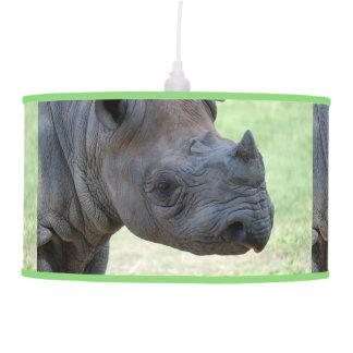 Black Rhino Hanging Lamp