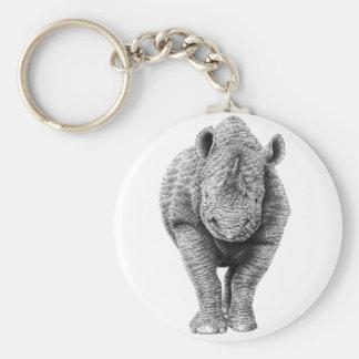 Black Rhino Keychain