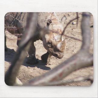 Black Rhino Mouse Pad