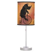 Black Rhino on Vintage Bike Desk Lamp
