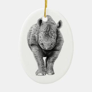 Black Rhino Ornament