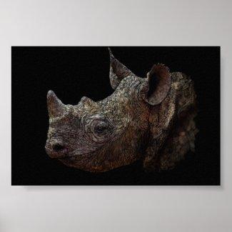 Black Rhino Print