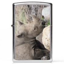 Black rhino zippo lighter