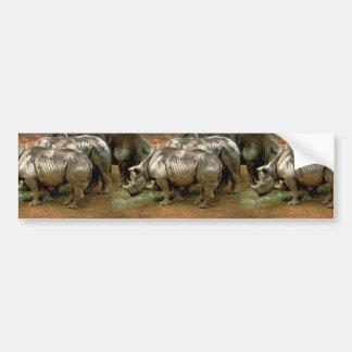 Black rhinoceros car bumper sticker