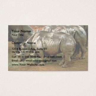 Black rhinoceros business card