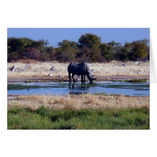 Black Rhinoceros Card